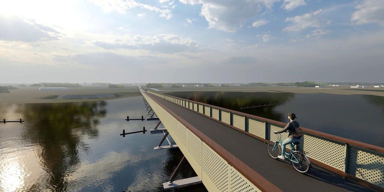 Megkezdődött Európa leghosszabb kerékpáros hídjának építése