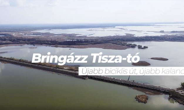 Kisfilm a Poroszló-Tiszafüred között épülő kerékpárútról