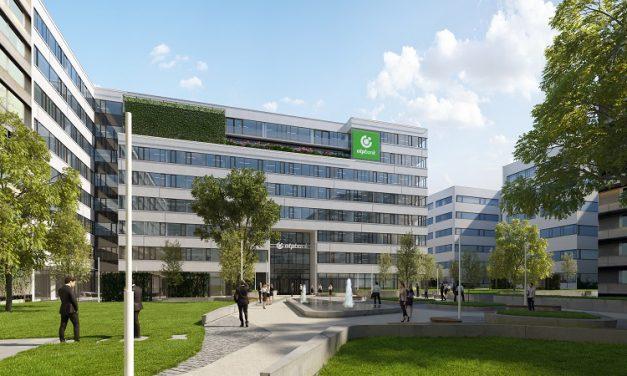 Szerkezetkész az OTP új irodaháza