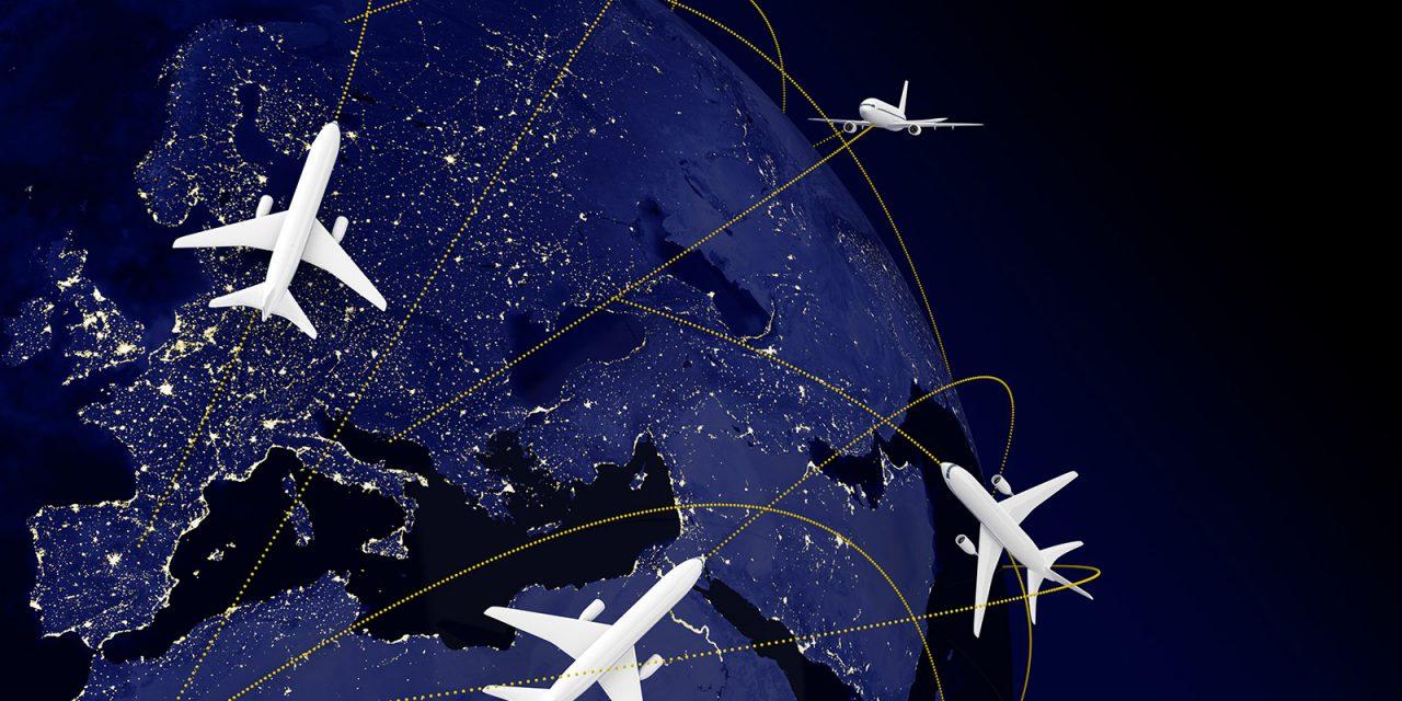 """Két pont között nem mindig az egyenes a legrövidebb – avagy miért """"kerülnek"""" a repülőgépek?"""