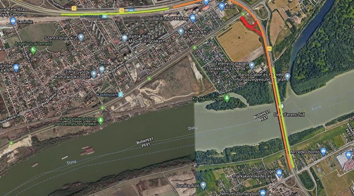 Próbaterhelést végeznek az M0-s hárosi Duna-hídján