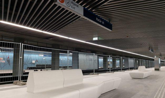 Október 22-én adják át a 3-as metró felújított déli szakaszát