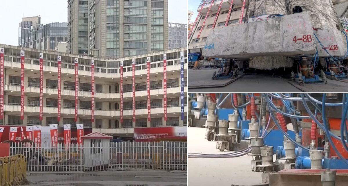 """Sanghaj """"sétáló"""" épülete"""
