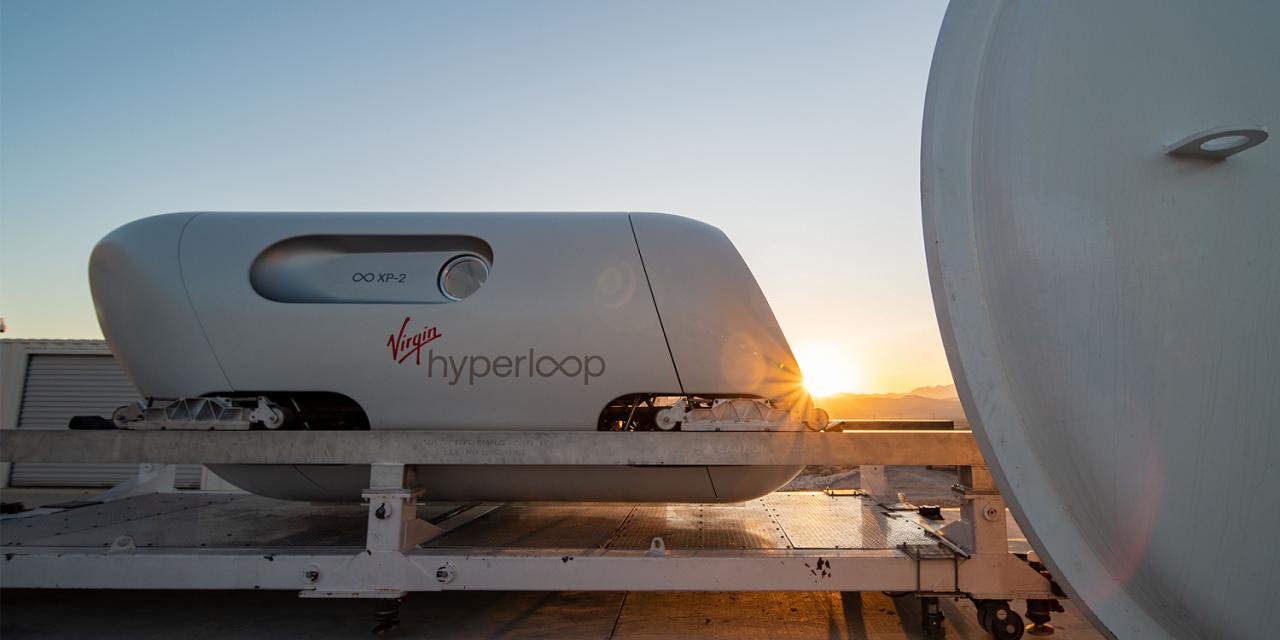 Először tesztelték utasokkal a hyperloop futurisztikus közlekedési rendszert