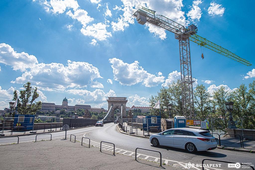 Egy hét múlva indulhat a Lánchídon a tényleges felújítási munka