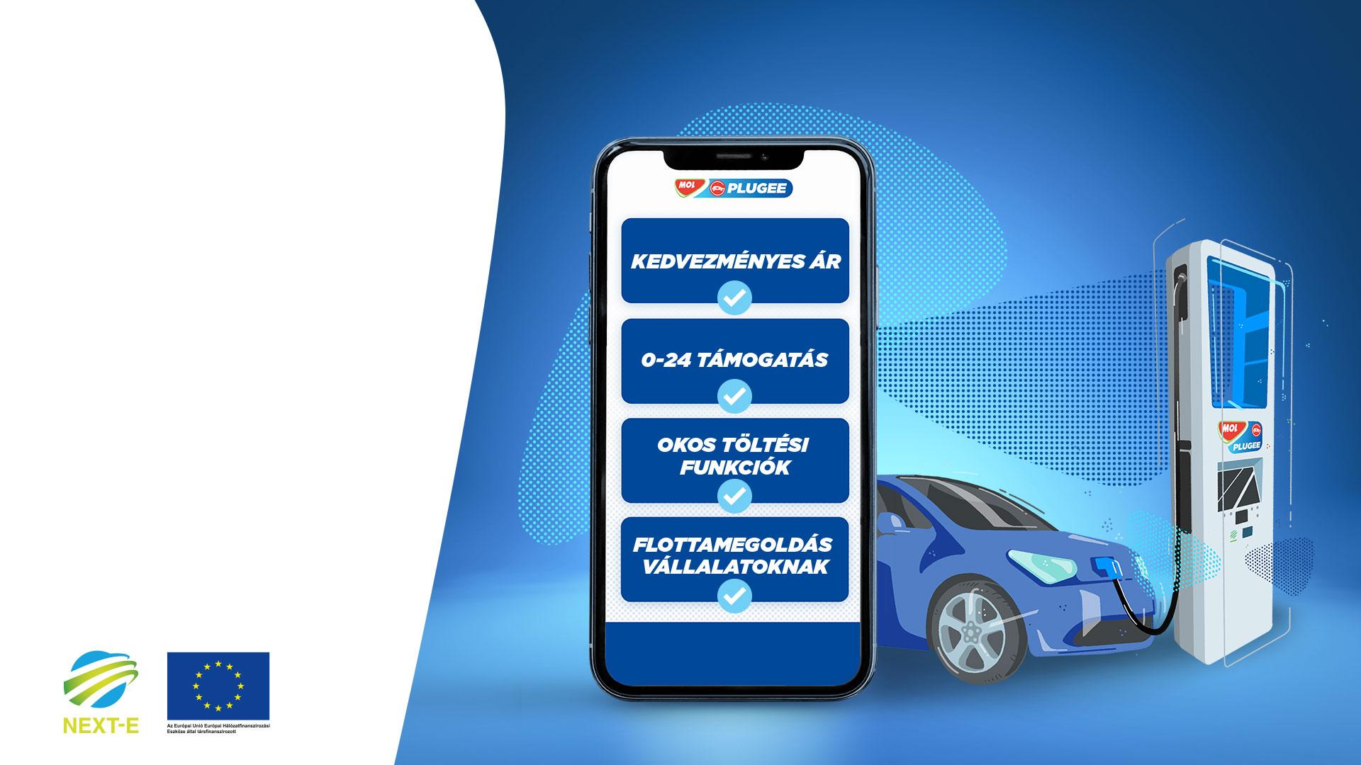Egységes fizetési megoldást vezet be az e-autó töltésre a Mol