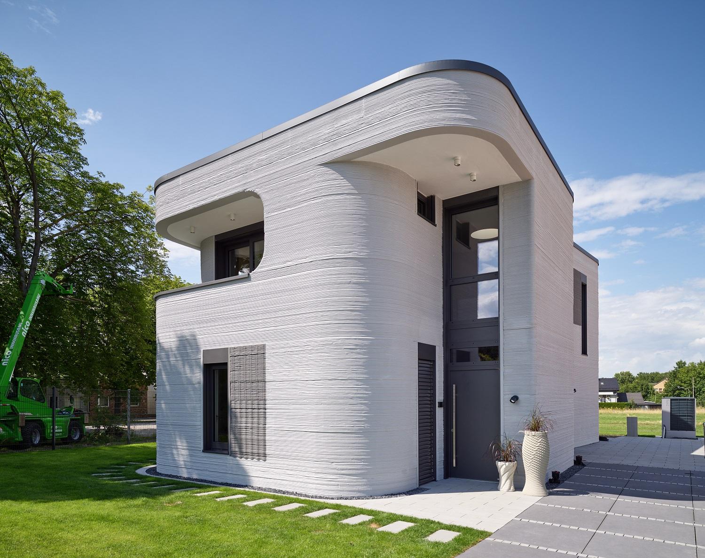 Átadták Németország első nyomtatott lakóházát