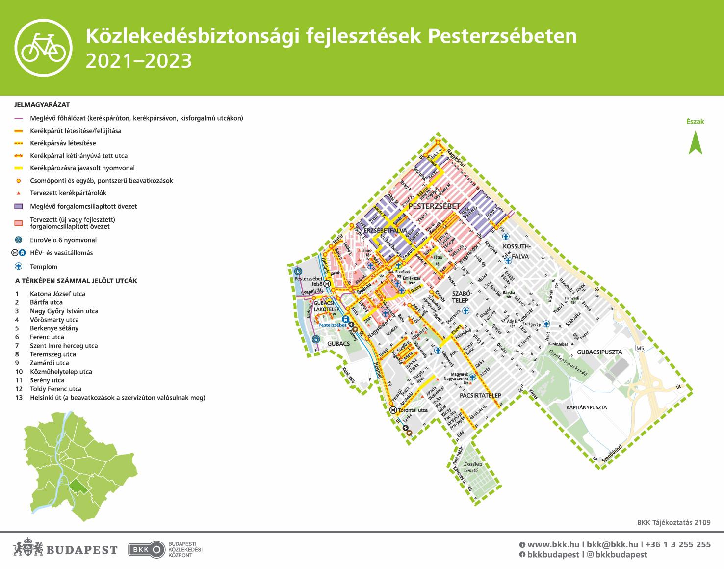 Új kerékpáros útvonalakon lehet majd közlekedni Pesterzsébeten