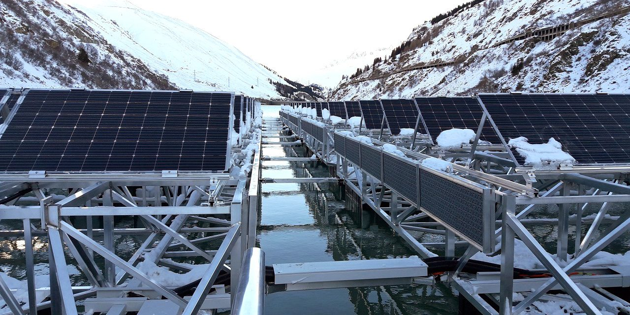 Vízfelszínre telepített naperőmű