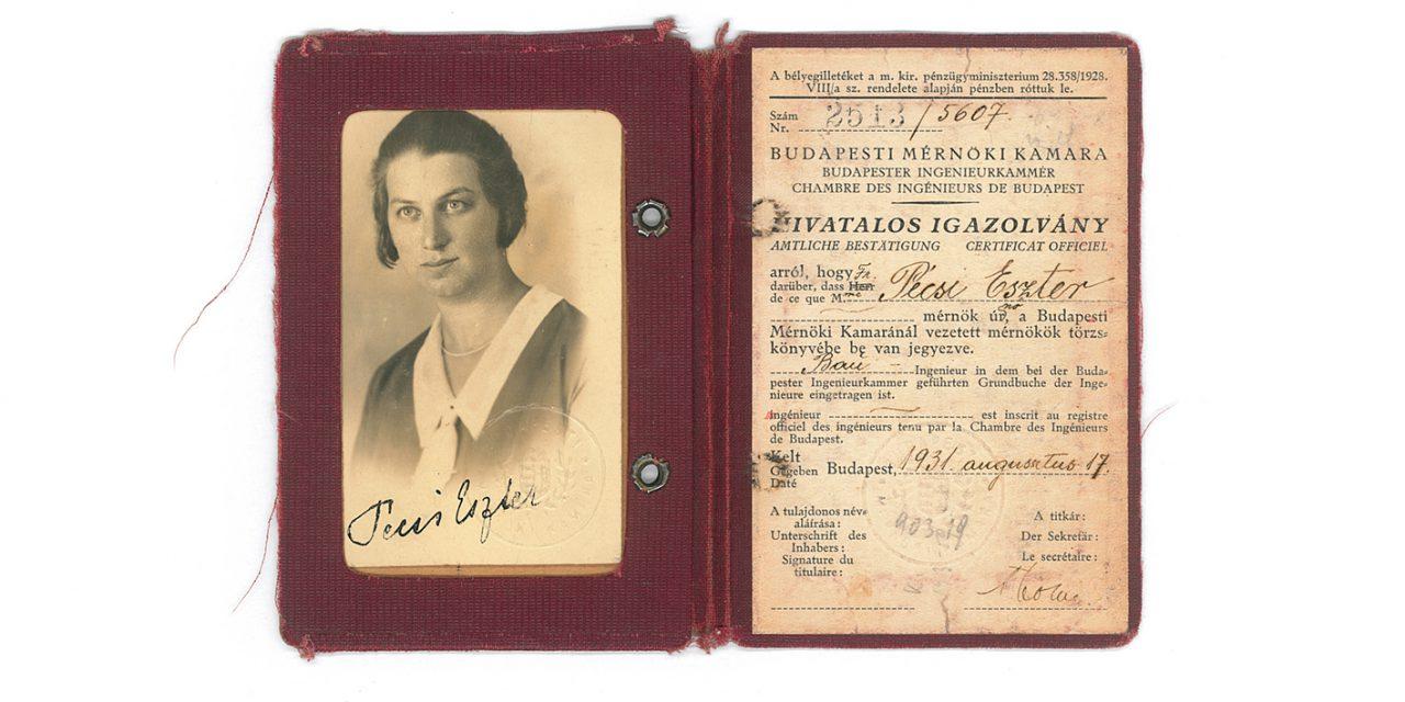 Száz éve vette át diplomáját Pécsi Eszter az első mérnöknő