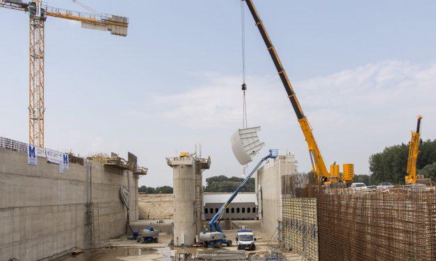 Jó ütemben halad a Mosoni-Duna torkolati szakaszának vízszintrehabilitációja