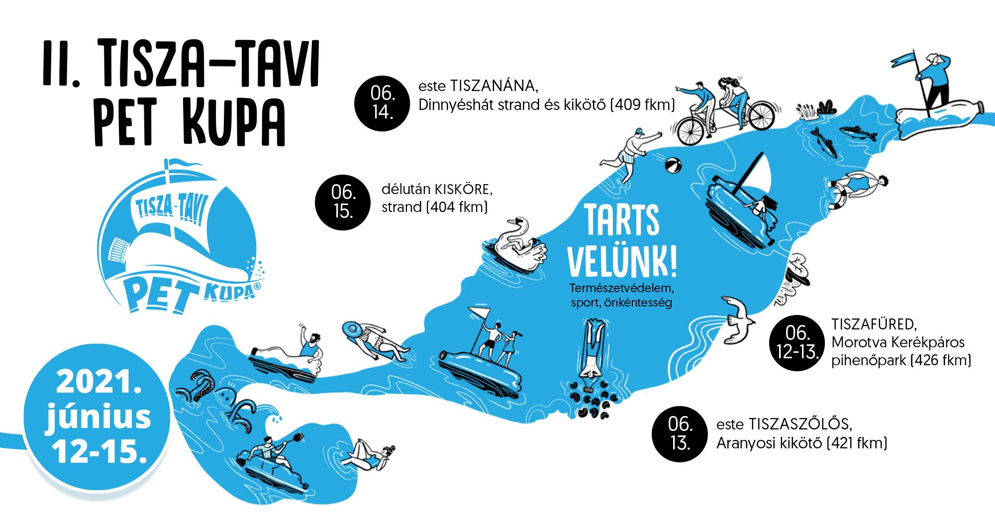 Több mint öt tonna hulladék gyűlt össze a II. Tisza-tavi PET Kupán