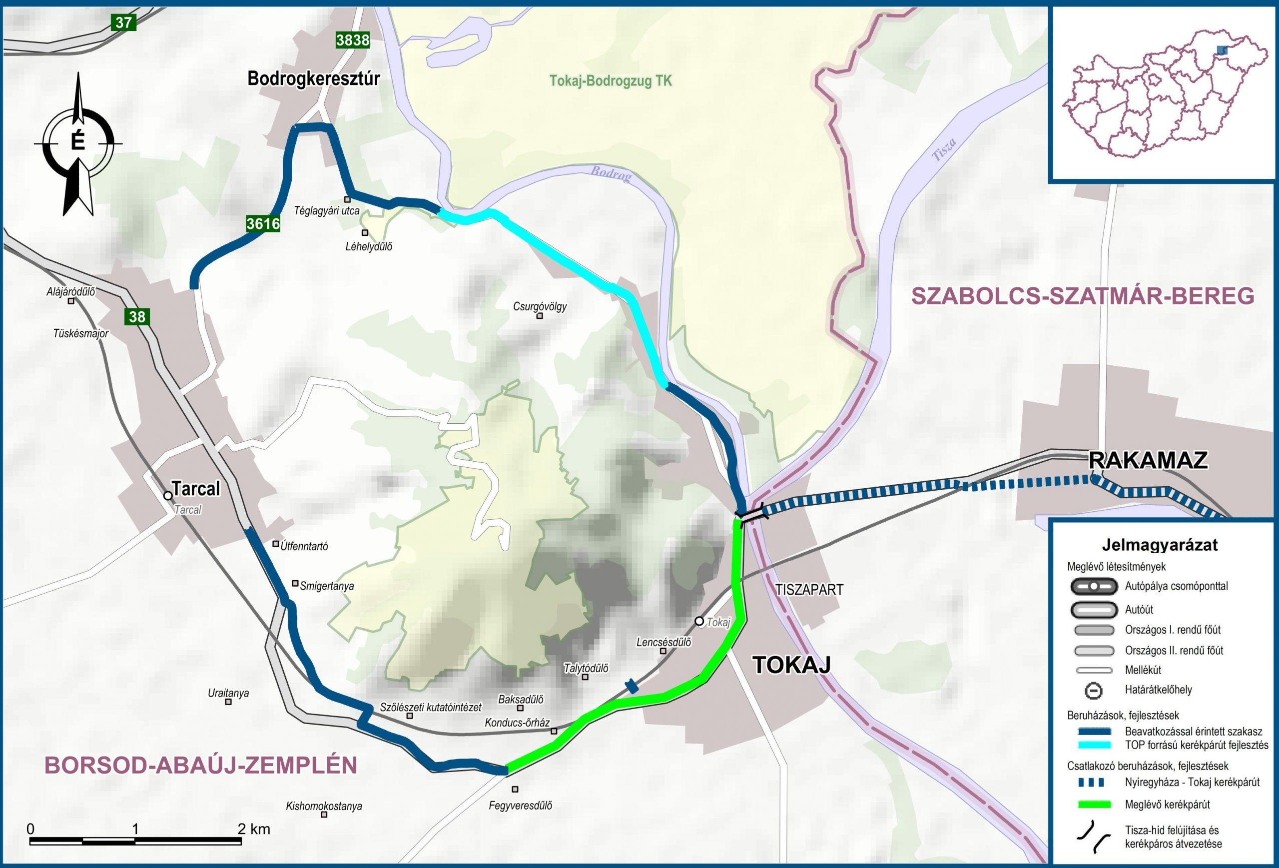 Komplex kerékpáros hálózat épül a Tokaji borvidéken