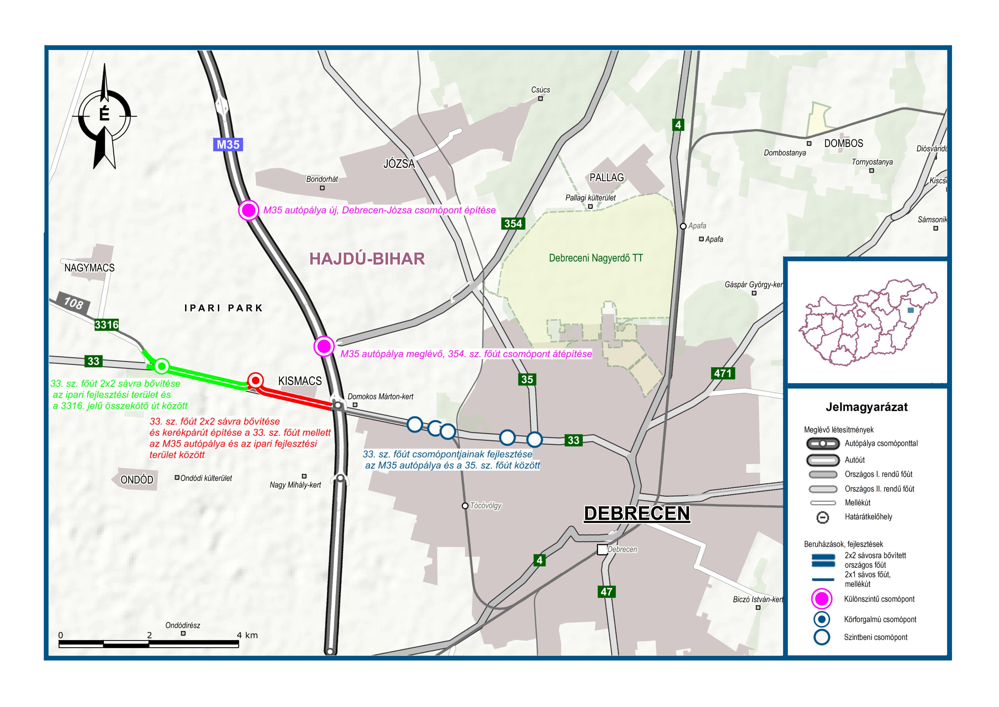 Új csomópontok segítik majd Debrecen megközelítését