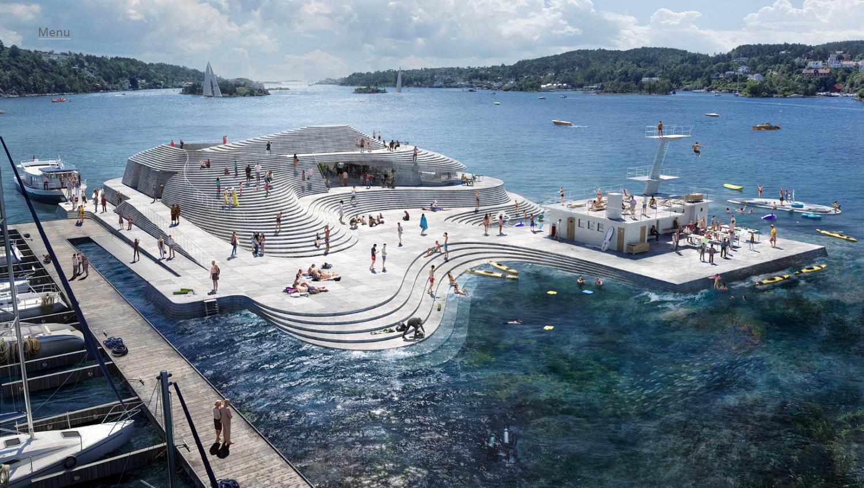Új köntösben: Norvégia régi kikötői fürdője újjászületik