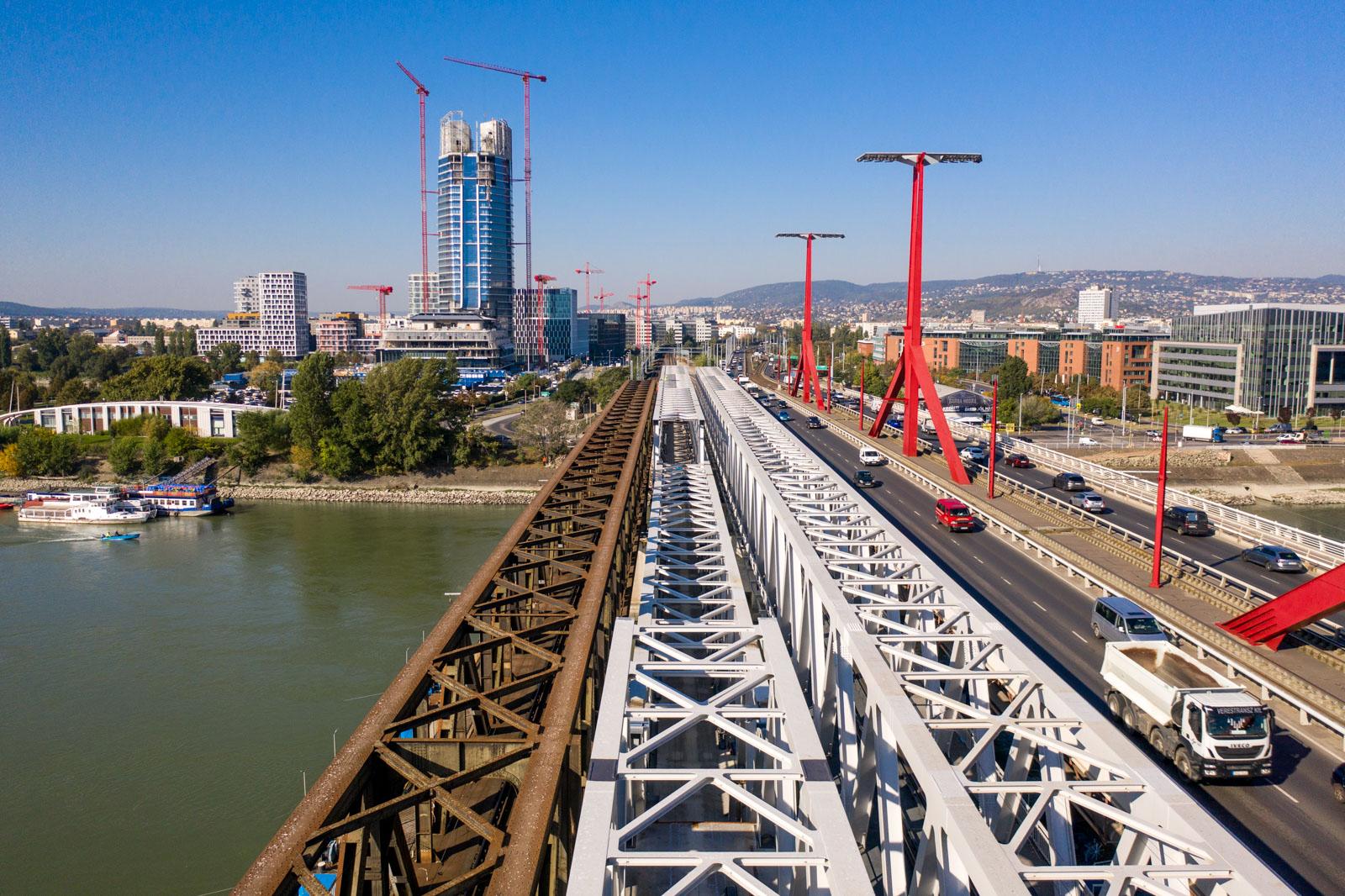 Újabb szakaszához érkezett a Déli összekötő vasúti Duna-híd építése